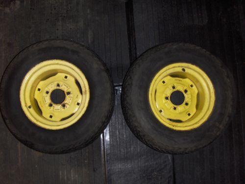 John Deere Backhoe Wheels : John deere rear wheels ebay