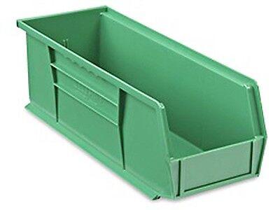 Green Stackable Storage Bin 15l X 5-12w X 5h - Lot Of 12 S-12418g