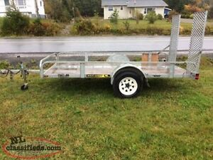 Galvanized side x side utility trailer for sale