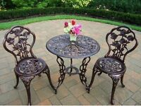 BEAUTIFUL GARDEN BRISTO TABLE AND 2 CHAIRS SETS