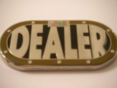- Heavy Poker Table Shape Dealer Button Card Guard NEW