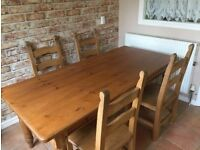 Dining Table and choice of one of two sets of chairs