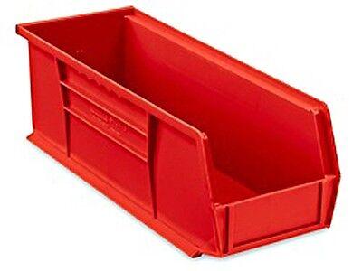 Red Stackable Storage Bin 15l X 5-12w X 5h - Lot Of 12 S-12418r