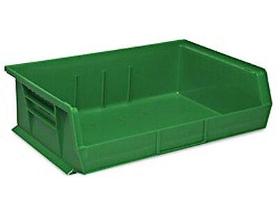 Green Stackable Storage Bin 11l X 16-12w X 5h - Lot Of 6 S-13537g