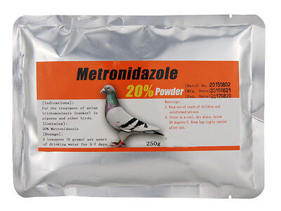 Pigeon Product   Metronidazole 20    Canker   250G Powder