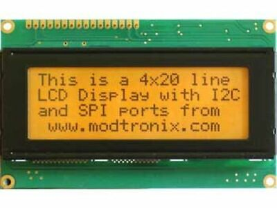 Lcd Display 4x20 Characters Fstn Black Amber Led Backlight