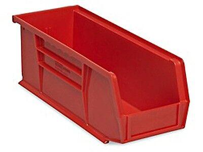 Red Stackable Storage Bin 11l X 4w X 4h - Lot Of 12 S-13536r