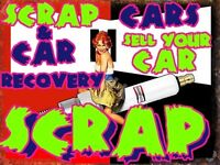 SCRAP MY CAR SELL MY CAR VAN CARAVAN ANY VEHICLE & CAR RECOVERY 24 HOUR CALL OUT LONDON & UK