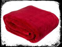 Large Faux Fur Throw - Red or Teal