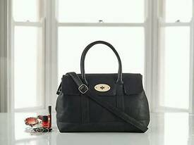 Black Faux Leather Shopper