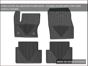 2014 Ford Escape Weathertech All-Weather Mats and Cargo Mat
