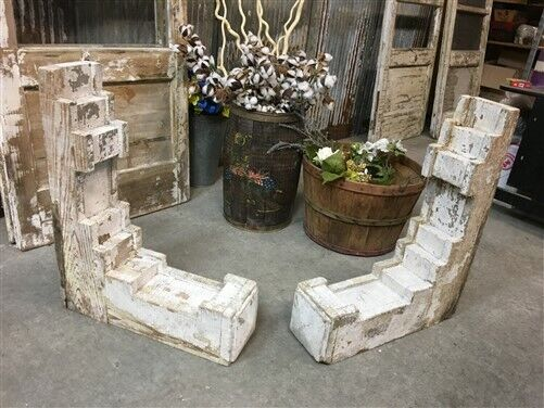 2 Large Antique Wood Corbels, Victorian Gingerbread, Architectural Salvage B,