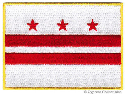 WASHINGTON DC FLAG embroidered iron-on PATCH EMBLEM new