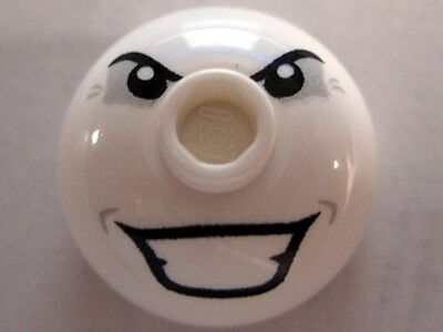 Joker Bomb Round 2 x 2 Dome Top NEW 6863 Batman LEGO x 10 White Brick
