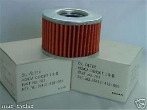 Honda-Oil-Filter-VTR250-2-pcs-NEW-413