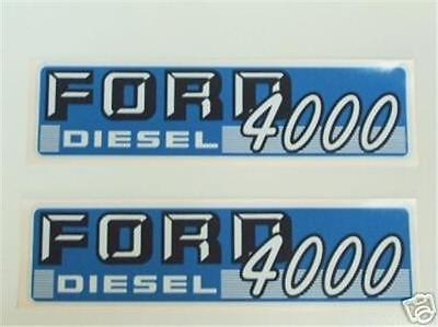 Ford 4000 Diesel Tractor 1962 - 1964 4cyl Hood Decal Set