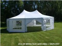 Backyard Tents, chairs, tables, dance floor for Rent