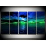 5PC MODERN ABSTRACT HUGE WALL ART OIL PAINTING ON CANVAS (no framed )