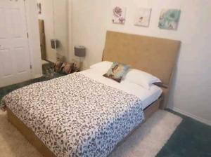 February 1st furnished private room in 2 bedrooms apartment850$