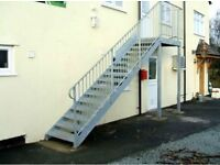 Staircase. External Staircase, Fire escape Staircase galvanised