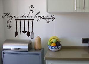 Vinilo decorativo cocina hogar dulce hogar stickers ebay for Stickers para azulejos cocina
