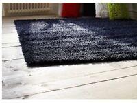 IKEA Hampen rug in black, long pile, 195 x 133 cm, unused