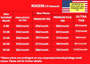 CHEAP PHONE PLANS, BELL, ROGERS, TELUS , KOODO 30 GB FOR 81!!!!!