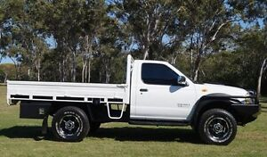 2008 Nissan Navara D22 MY2008 DX White 5 Speed Manual Cab Chassis Bundaberg West Bundaberg City Preview