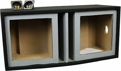 Vented Woofer - Deejayled 2X12SQUAREVENTED Double 12-in Vented Square Woofer Empty Car Speaker