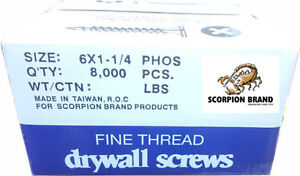 Scorpion Brand 1-1/4 Drywall Screws for $44.99 (6030 50 St)