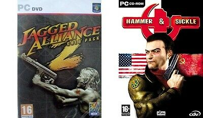 JAGGED ALLIANCE 2 GOLD PACK Inc. Unfinished Business & hammer+sickle  new&sealed Jagged Alliance 2 Gold Pack