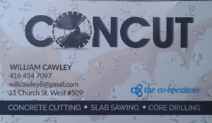 Concrete cutting & coring services