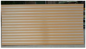 Slatwall Panels Aluminum Channel Inserts:122cmx244cm(4X8 feet)