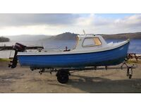 Orkney Fastliner 16ft, 25hp tohatsu, fishing boat,
