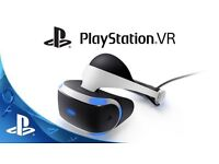 PlayStation Vr plus PS4 camera and 3 games