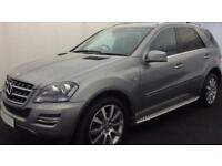 SILVER Mercedes-Benz ML300 CDI NAV FULL LEATHER LOW MILES FROM £88 PER WEEK!