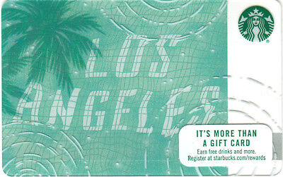 SCARCE Hard To Find!!!    Starbucks 2017 LOS ANGELES  Card - Reflections in Pool