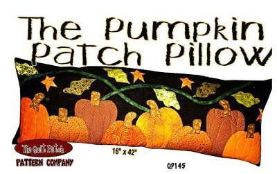 Pumpkin Patch Pillow Applique Halloween Autumn Sugar Pine Company Pattern