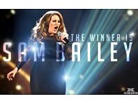 Sam Bailey XFactor Winner Live Just £5.00 per Adult and £3.00 per Child