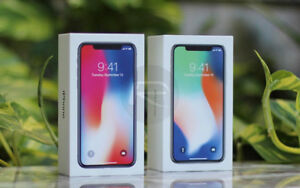 Authentic Brand New Sealed IPhone X 64G-256GB, 1 Year AppleCare