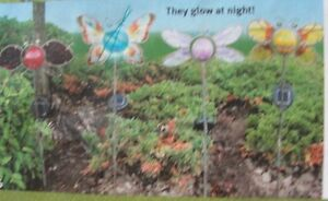 NEW solar butterfly garden stakes & solar fence