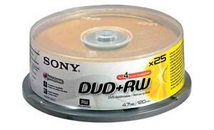 Sony DVD+RW 25 Pack Spindle of 4.7GB Discs