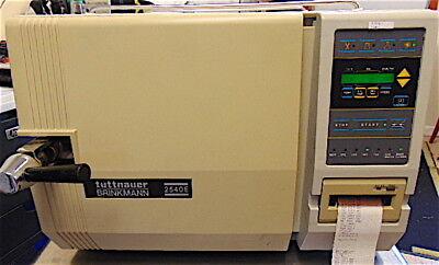 Tuttnauer Autoclave Steam Sterilizer Model 2540e - Went Through All Cycles-s3492