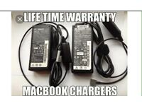 Apple MacBook charger, magsafe1 and magaafe2 compatible. 45w,60w,85w, Warranty included