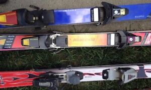 $20 and up.  Skis, boots,