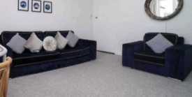 Navy Suite 4 seater and arm chair