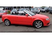 Audi A4 CABRIOLET 2.0 TFSI S Line. Full service history. Low mileage. MOT until December.