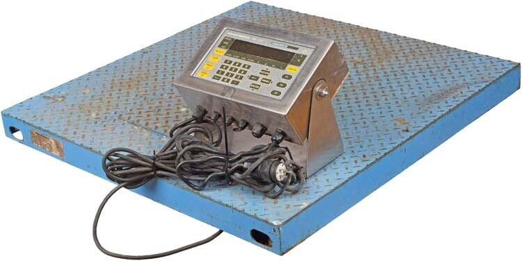 "Weigh-Tronix WI-127 Inbound/Outbound Digital Weight Indicator w/36x36"" Scale"