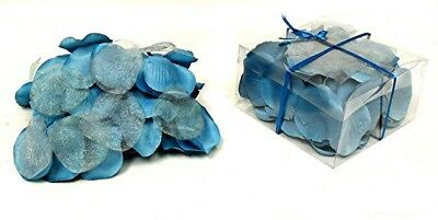100 Rose Petals TURQUOISE BLUE Silk Wedding Flower Girl Party Centerpieces