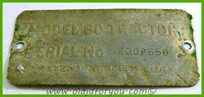 John Deere 60 Serial Number Tag Serial 6008656original Tag For Early Tractor